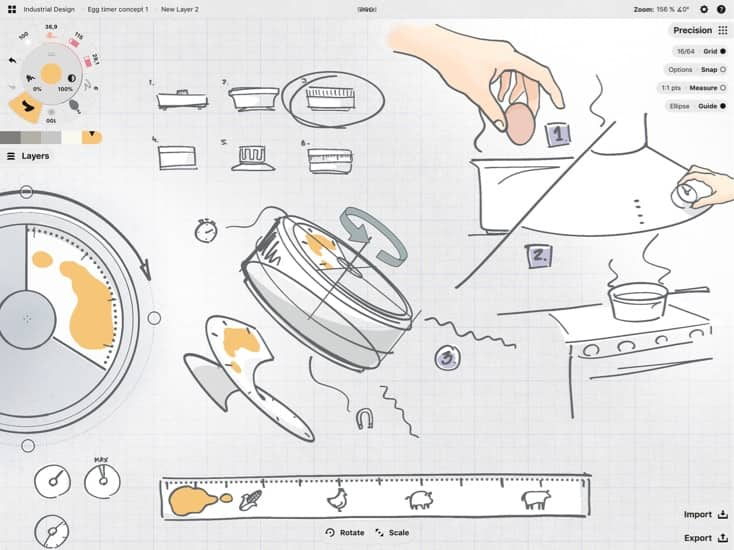 Concepts sketch diagram kitchen