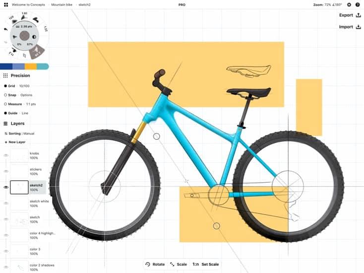 概念山地腳踏車草圖