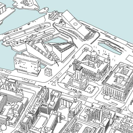 Ewen Miller Liverpool Office Location Sketch using Concepts for iPad