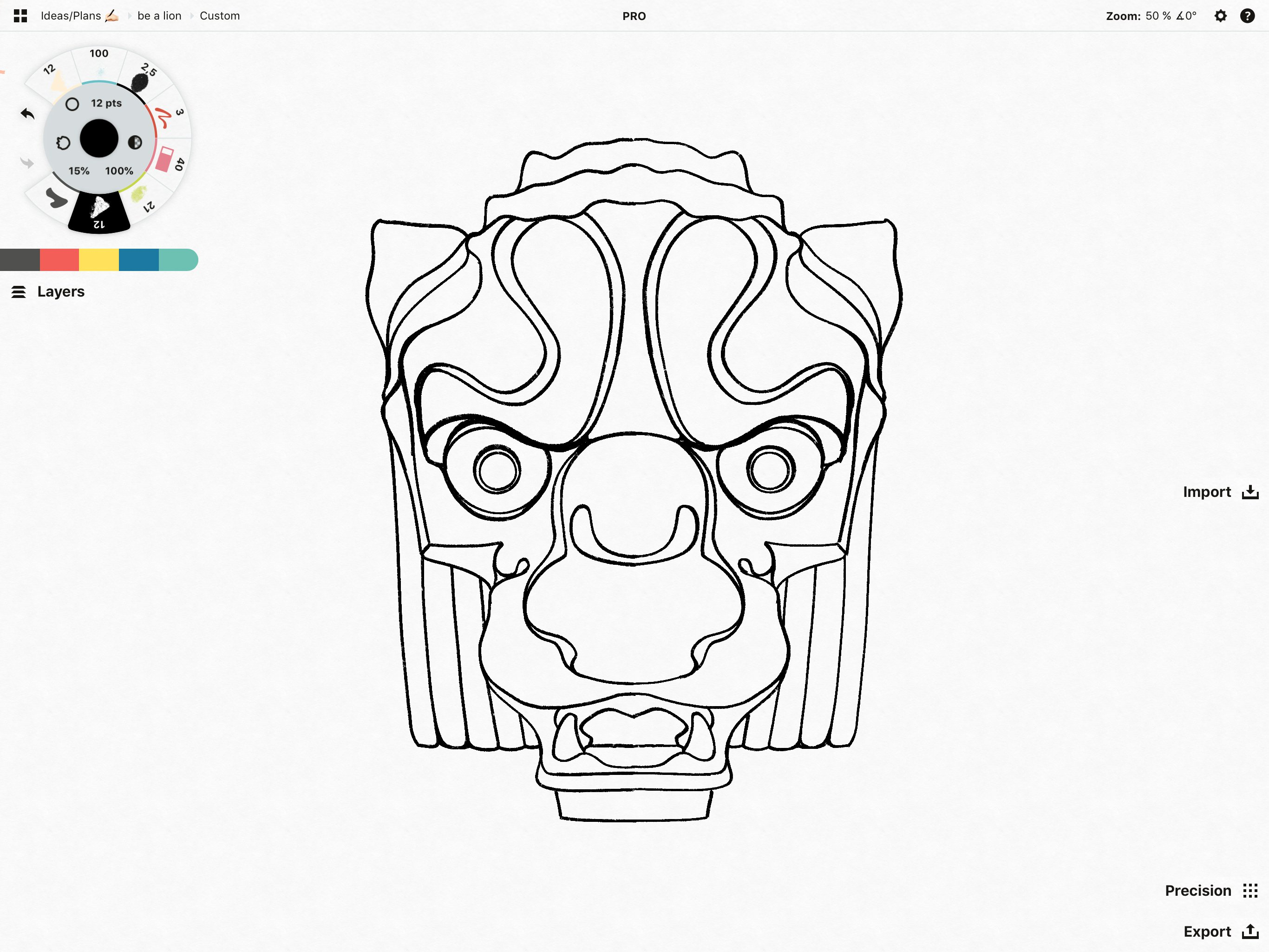 Wood Carving Brushes • Concepts App • Infinite, Flexible