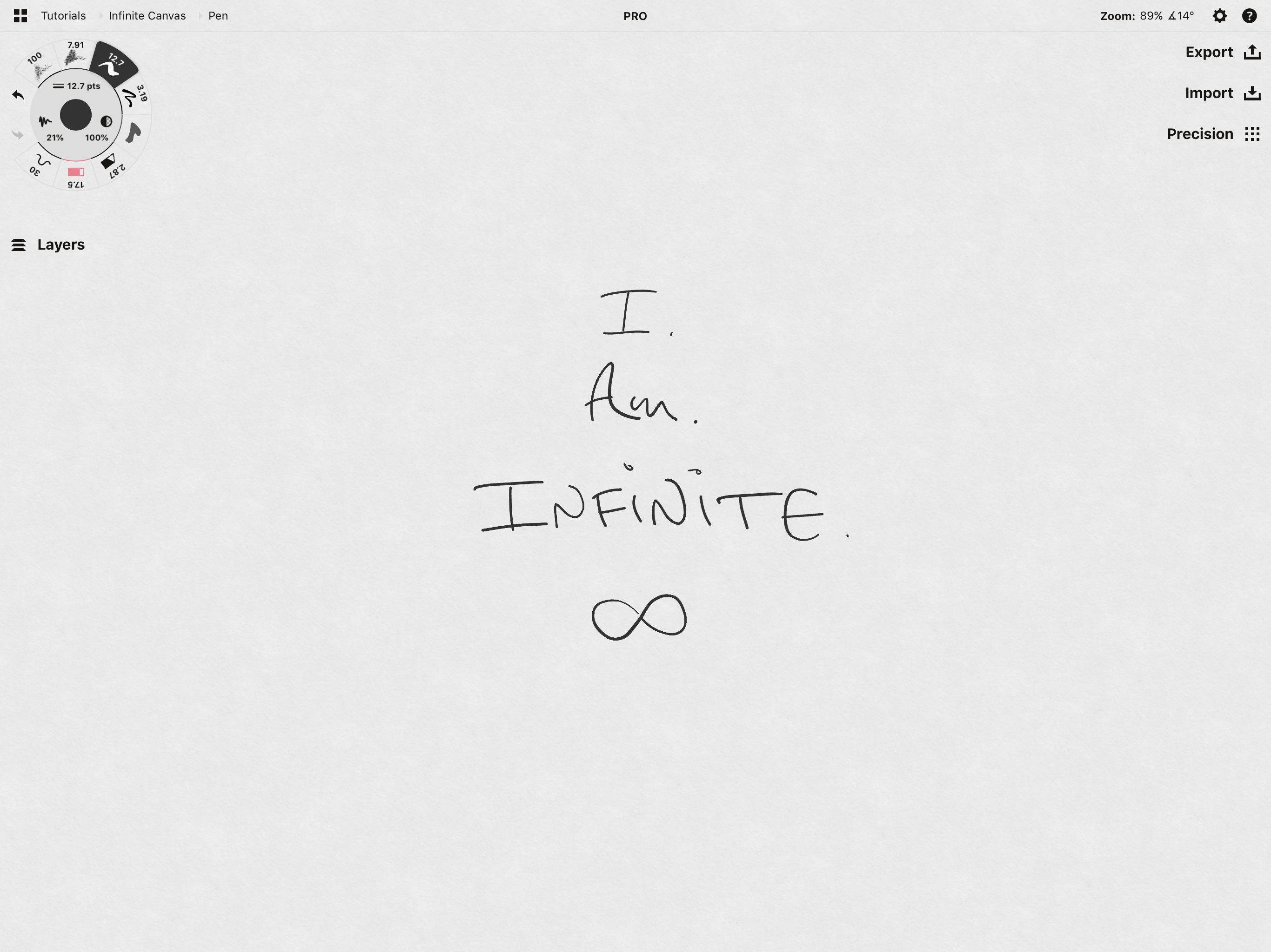 Working with Your Infinite Canvas • Concepts App • Infinite