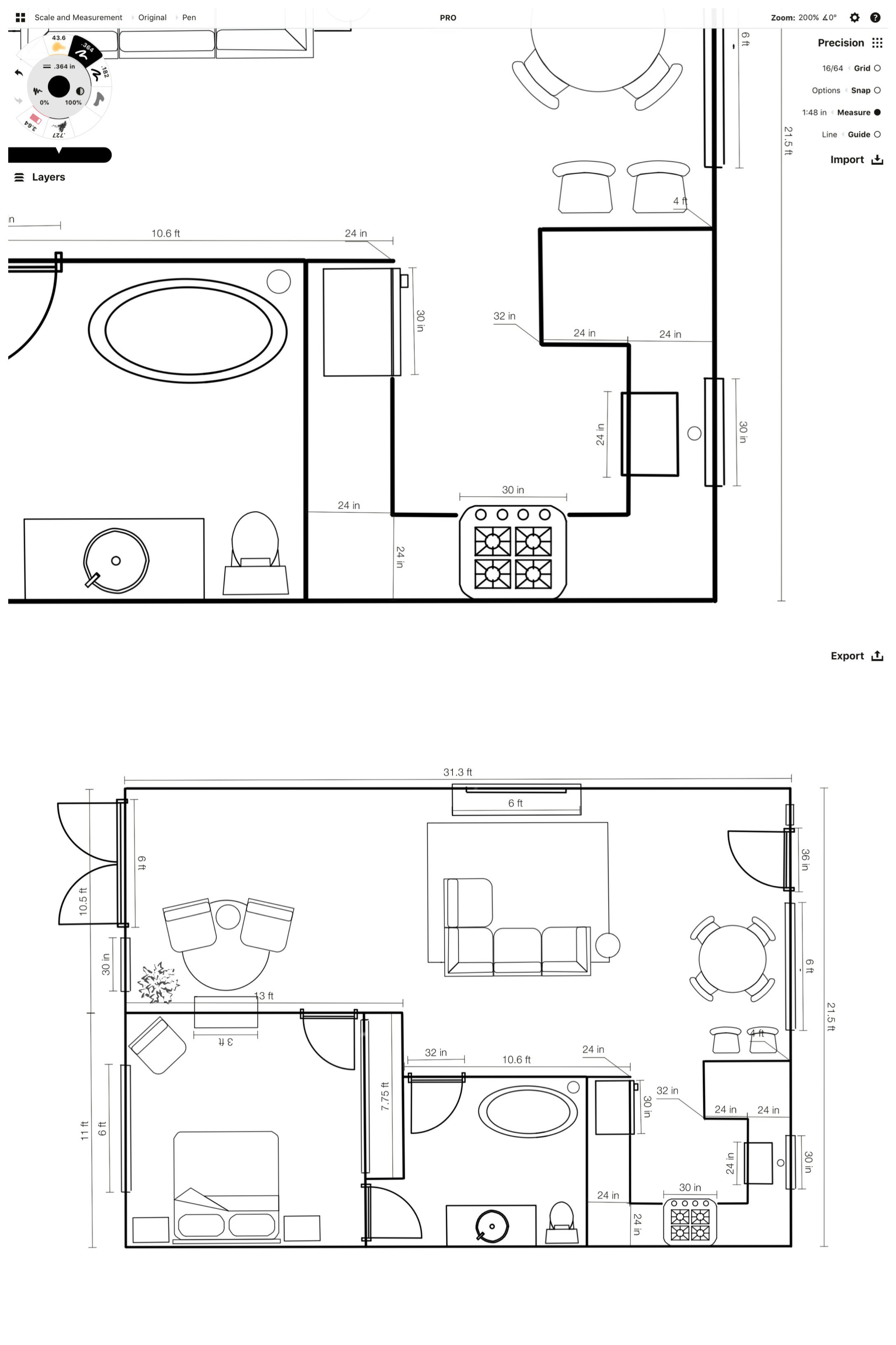 How To Create A Floor Plan Concepts App Infinite Flexible Sketching
