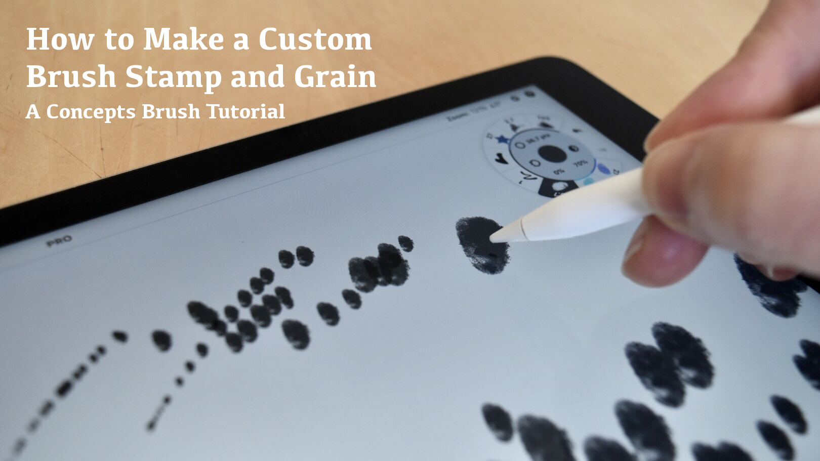 How to Make a Custom Brush Stamp and Grain tutorial