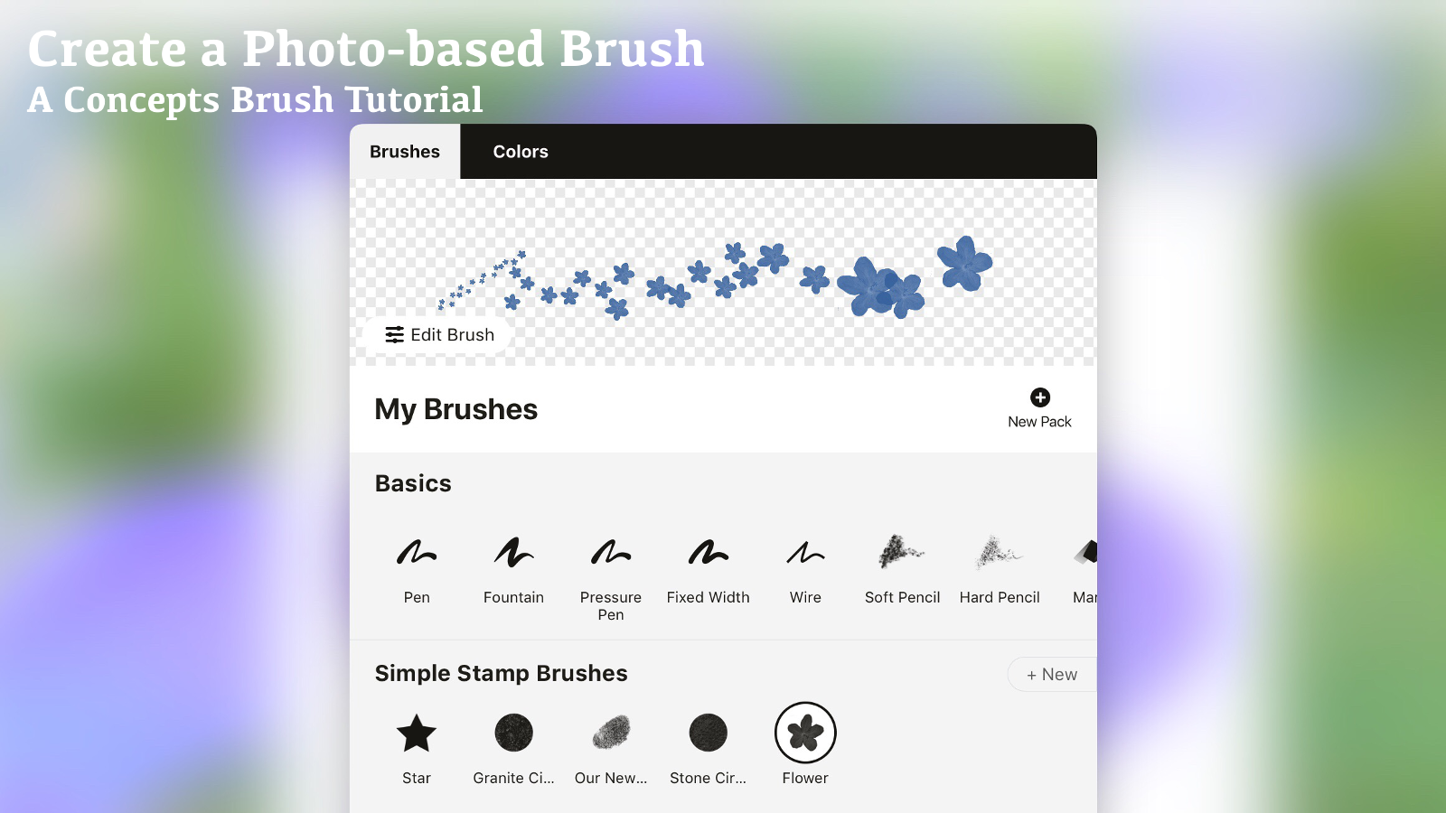 Create a Photo-based Brush tutorial
