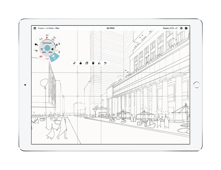 Woojae Sung Sketch for Concepts on iPad with Selection Tool